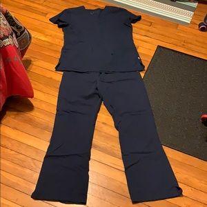 Navy scrubs